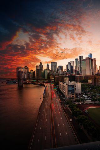 Обои на телефон big apple, skyscr, cityneversleep, trade, center, big apple new york, новый, ночь, эпл, город, здания, йорк, небоскребы, нью йорк