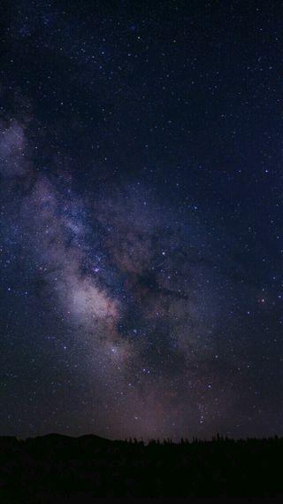 Обои на телефон космос, горизонт, skyline