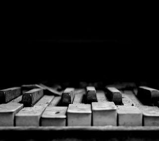 Обои на телефон old piano, черные, белые, музыка, старые, пианино