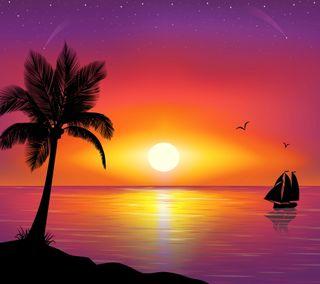 Обои на телефон векторные, фон, красочные, закат, sunset vector, colorful background