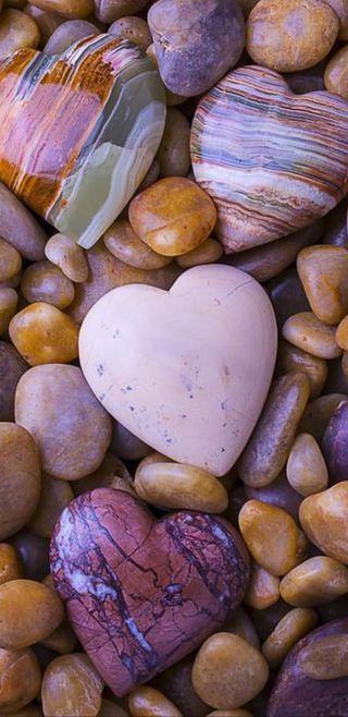 Обои на телефон сердце, камни, stone hearts, hd, full