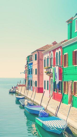 Обои на телефон лодки, эпл, прекрасные, красочные, венеция, айфон, iphone, apple, 6s