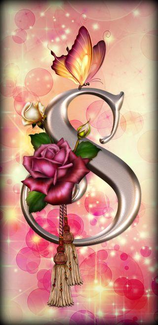 Обои на телефон буквы, цветы, розы, розовые, логотипы, бабочки, hd