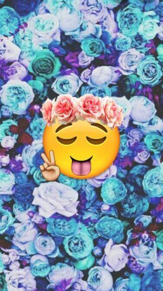 Обои на телефон эмоджи, розы