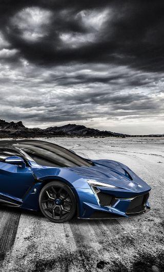 Обои на телефон пустыня, скорость, синие, гоночные, supersport, motorsport, lykan, gt, fenyr