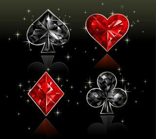 Обои на телефон покер, костюм, карты