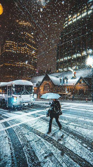 Обои на телефон холод, природа, зима, город, snowing, situation