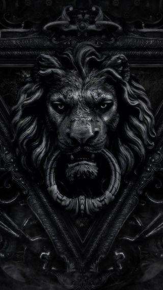 Обои на телефон дверь, готические, лев