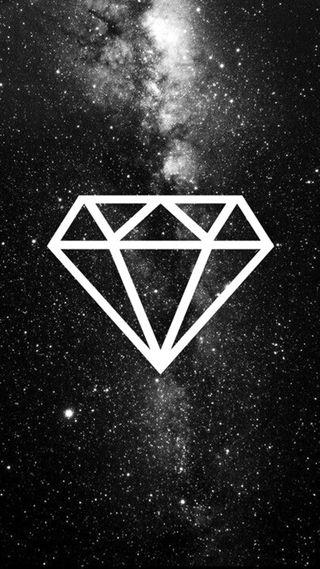 Обои на телефон бриллиант, черные, звезды, галактика, galaxy