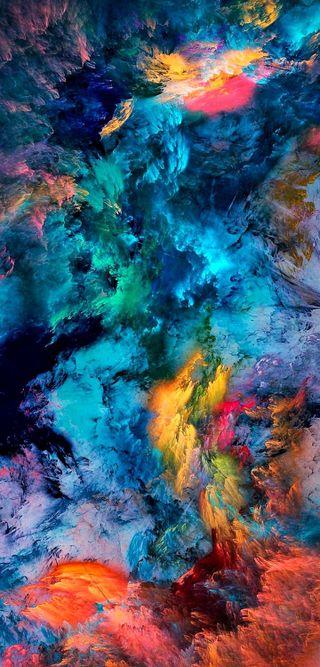 Обои на телефон шторм, цветные, фото, пейзаж, океан, облака, море, микс, космос, colour clouds, 2019