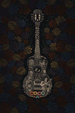 Обои на телефон шаблон, цветочные, новый, лучшие, крутые, коко, гитара, абстрактные, hd, 929