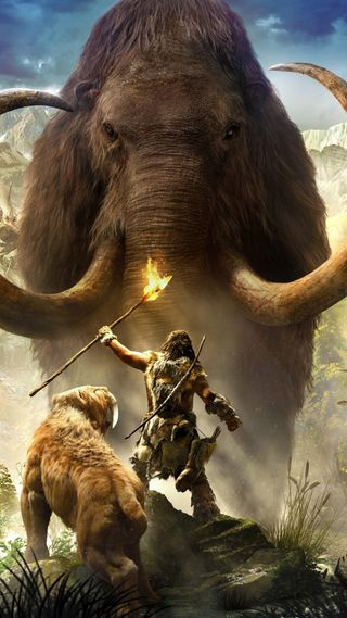 Обои на телефон слон, огонь, лев, игра, далеко, worrior, game elephant, far cry game