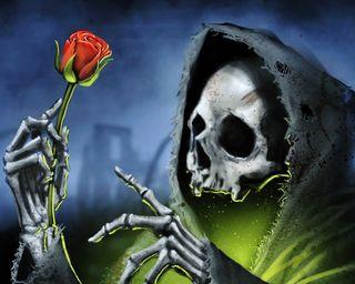 Обои на телефон готические, череп, темные, смерть, розы, мрачные, undead