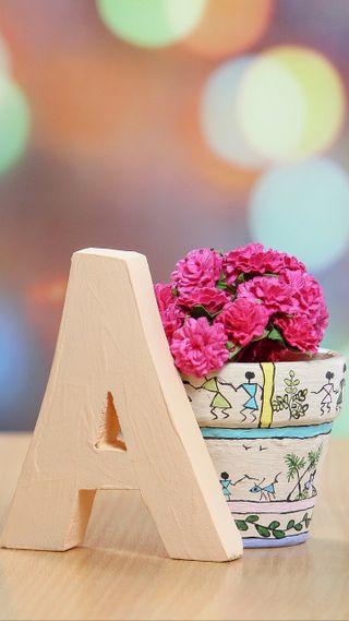 Обои на телефон love, letter a with flower, любовь, сердце, цветы, грустные, ты, буквы, везучий, фразы, сломанный