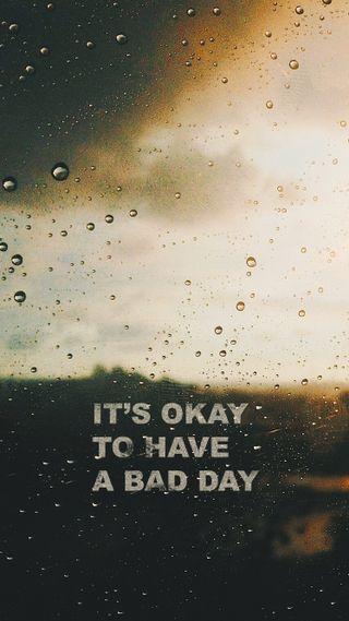 Обои на телефон плохой, цитата, мотивационные, дождь, депрессивные, день, грустные, bad day