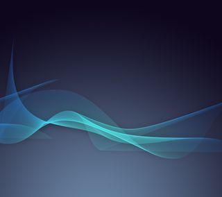 Обои на телефон линии, синие, абстрактные, cian, abstract line