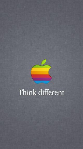 Обои на телефон думать, эпл, логотипы, другой, think different, apple