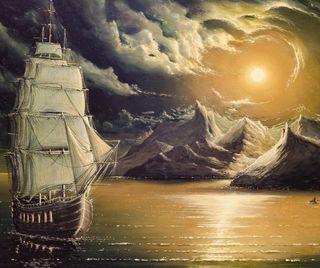 Обои на телефон погода, плохой, крафт, корабли, картина, арт, ship painting, bad weather, art