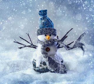 Обои на телефон снеговик, счастливое, снег, рождество, милые, зима