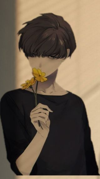 Обои на телефон эстетические, цветы, мальчики, мальчик, грустные, аниме