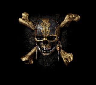 Обои на телефон пираты, черные, череп, золотые, crossbones