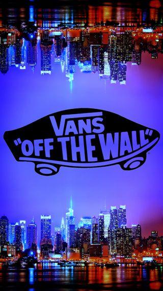 Обои на телефон стена, vans, off the wall