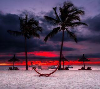 Обои на телефон пляж, природа, закат