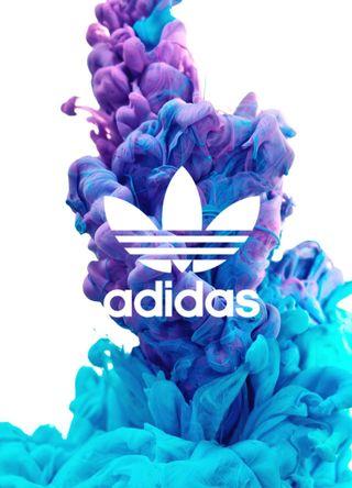 Обои на телефон спортивные, синие, логотипы, белые, адидас, adidas