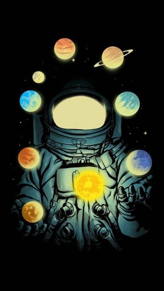 Обои на телефон небеса, космонавт, lua, astro