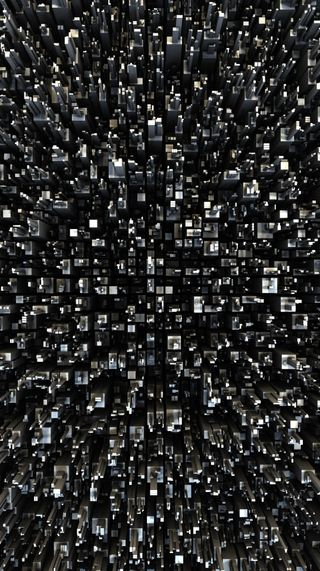 Обои на телефон кубы, серые, абстрактные