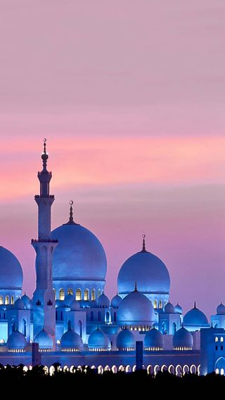 Обои на телефон мечеть, природа, ислам, abu dhabi mosque