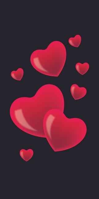 Обои на телефон черные, сердце, романтика, любовь, любовники, валентинка, love, february, 3д, 3d