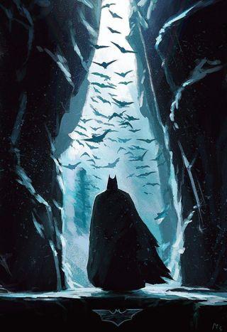 Обои на телефон самурай, холодное, ночь, море, минимализм, герой, бэтмен, iceberg, fodao, detective