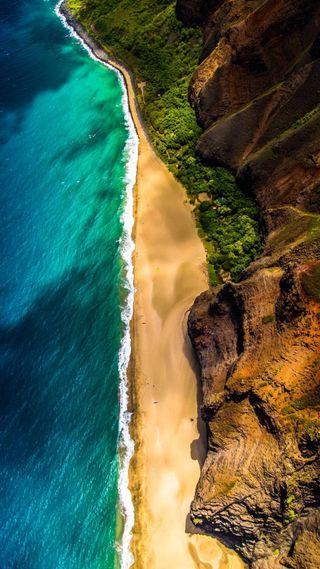 Обои на телефон природа, пляж, окно, матовые, windows, nature 4k