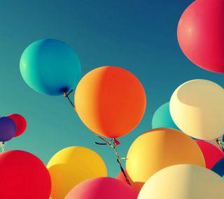 Обои на телефон шары, небо, красочные, up to the sky
