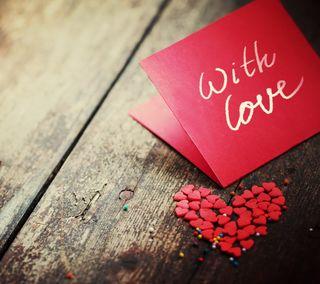 Обои на телефон сердце, романтика, любовь, красые, деревянные, валентинка, note, love