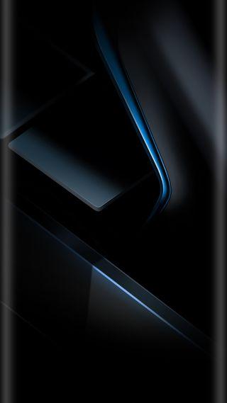 Обои на телефон черные, фон, стиль, синие, грани, абстрактные, s7, edge style