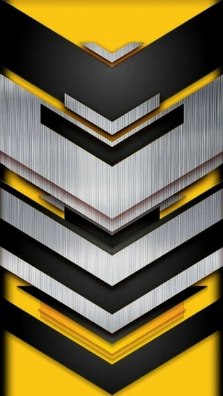 Обои на телефон геометрия, формы, серебряные, металл, желтые, v shape