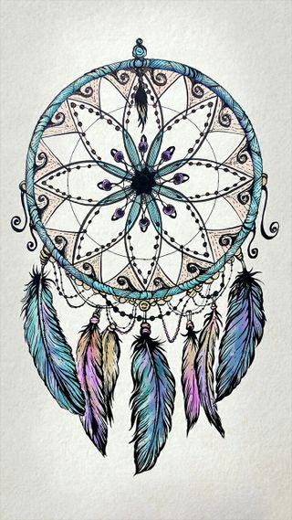Обои на телефон ловец снов, перья, мечта, ловец