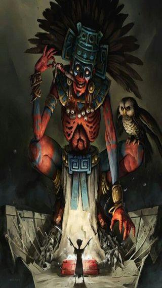 Обои на телефон мексика, бог, muerte, mictlan, azteca