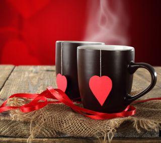 Обои на телефон чай, любовь, классные, love tea, love