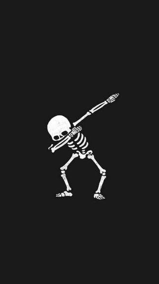 Обои на телефон скелет, даб