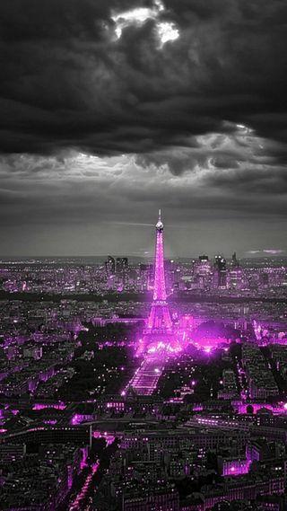 Обои на телефон яркие, цветные, париж, ночь, новый, луна, крутые, красочные, город, башня, bright city night