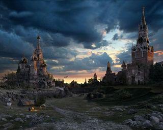 Обои на телефон россия, пейзаж, замок, moscow castles, disaster