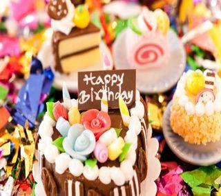 Обои на телефон пожелание, торт, счастливые, милые, день рождения, birthday cake