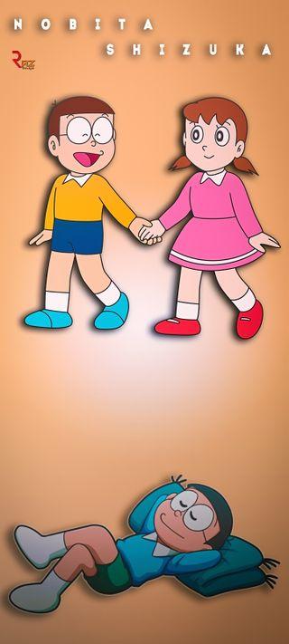 Обои на телефон том, семья, санта, нобита, милые, мечты, мечта, крошечный, tones, nobita shizuka, calling