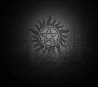 Обои на телефон дьявол, черные, серые, сверхъестественное, пентаграмма, spn, pentacle