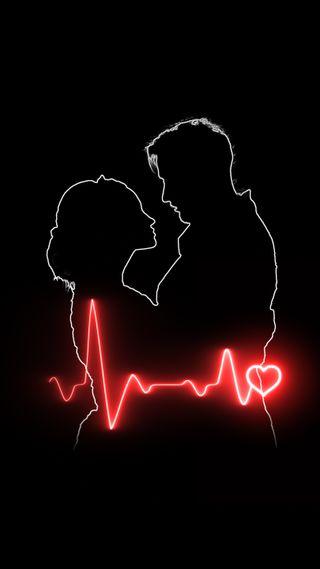 Обои на телефон стук сердца, любовники, сердце, мальчик, любовь, женщина, девушки, валентинка, man, love, VB, Lovers