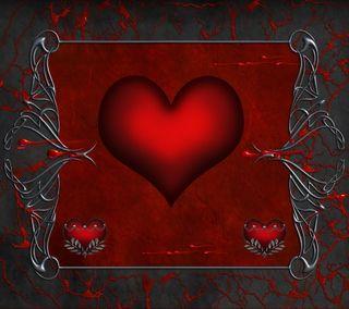 Обои на телефон готические, фон, серебряные, сердце, рамка, любовь, кровь, красые, silver red, love, gothic love, gothic frame