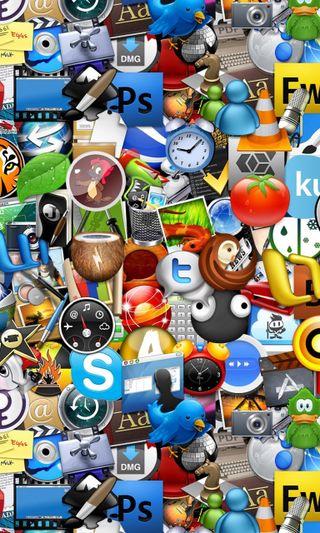 Обои на телефон чат, фейсбук, иконки, икона, дизайн, twitter, skype, ps, orkut